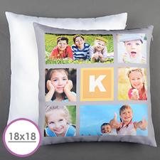 Lemon Six Collage Personalised Large Cushion 18
