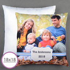 Blue Frame Personalised Large Cushion 18