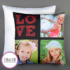 Love Arrow Red Personalised Large Cushion 18