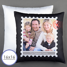 Stamp Personalised Pillow Cushion Cover 16
