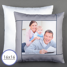 Grey Personalised Pillow Cushion Cover 16