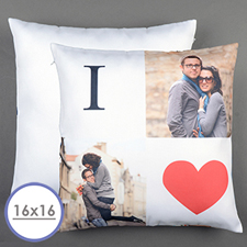 I Love Personalised Pillow Cushion Cover 16