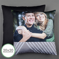 Grey Print Personalised Large Pillow Cushion Cover 20