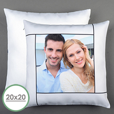 White Personalised Large Pillow Cushion Cover 20