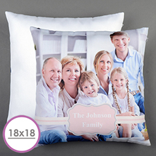 Pink Frame Personalised Large Cushion 18