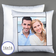 White Personalised Pillow Cushion Cover 16