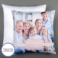 Pink Frame Personalised Pillow Cushion Cover 16