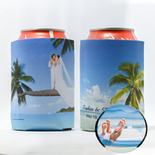 Personalised Can Cooler For Wedding