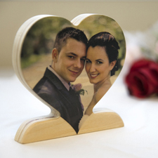 Personalised Wooden Photo Heart Decor