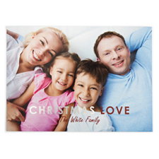 Foil Silver Christmas Love Personalised Photo Card