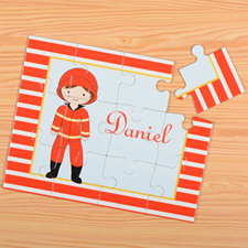 Fireman Personalised Kids Puzzle