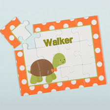 Polka Dot Turtle Personalised Kids Puzzle