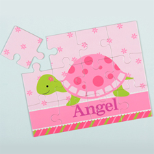 Flower Turtle Personalised Kids Puzzle