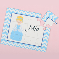Little Princess Personalised Kids Puzzle, Gold Hair