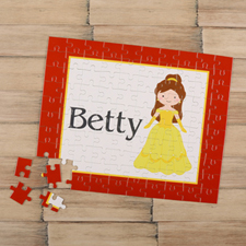 Little Princess Personalised Kids Puzzle, Brown Hair
