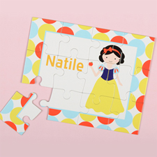 Little Princess Personalised Kids Puzzle, Black Hair