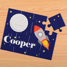 Rocket Personalised Kids Puzzle
