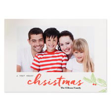 A Very Merry Christmas Personalised Photo Christmas Card