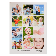 White Twelve Collage Personalised Photo Christmas Card