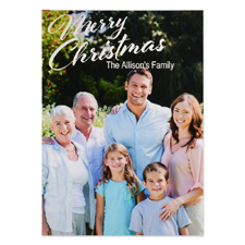 Merry Christmas Personalised Photo Christmas Card