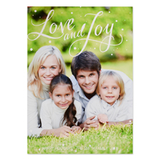 Love And Joy Personalised Photo Christmas Card