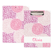 Pink Floral Personalised Clipboard