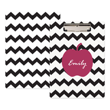 Black Chevron Apple Personalised Clipboard