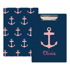 Polka Dot Anchor Personalised Clipboard
