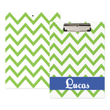 Green Chevron Personalised Clipboard