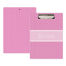 Pink Polka Dot Personalised Clipboard