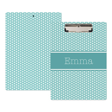 Blue Polka Dot Personalised Clipboard