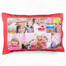 Red Personalised Collage Pillowcase