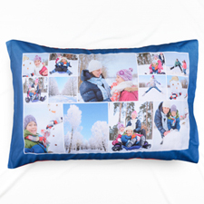 Navy Personalised Collage Pillowcase