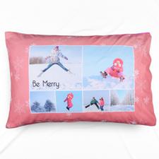 Snowflake Collage Personalised Photo Pillowcase