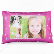 Little Star Collage Personalised Photo Pillowcase