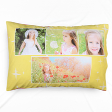 Mustard Star Collage Personalised Pillowcase