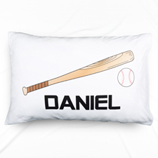Baseball Personalised Name Pillowcase