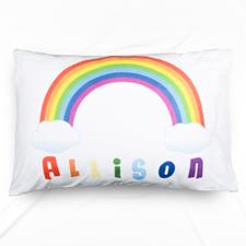 Rainbow Personalised Name Pillowcase