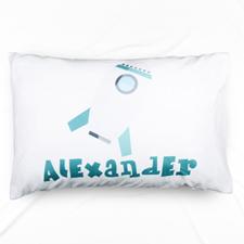 Rocket Personalised Name Pillowcase
