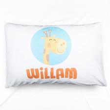 Giraffe Personalised Name Pillowcase