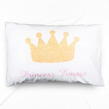 Princess Crown Personalised Name Pillowcase