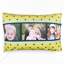 Lime Star Collage Personalised Pillowcase