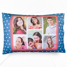 Six Collage Personalised Photo Pillowcase