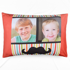 Stripe And Mash Collage Personalised Photo Pillowcase