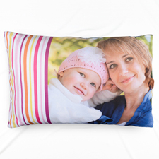 Plum Stripe Personalised Photo Pillowcase