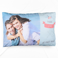 Love At First Sight Personalised Pillowcase