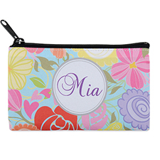 Tropical Floral Personalised Cosmetic Bag 4