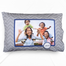Grey Chevron Personalised Photo Pillowcase