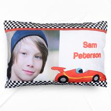 Red Racecar Personalised Photo Pillowcase