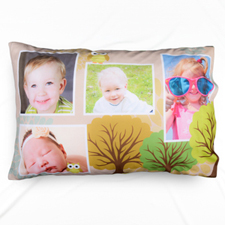 Photo Collage Forest Personalised Pillowcase
